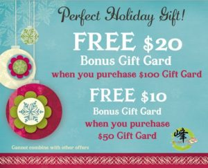 2018 Christmas Gift Card Promotion